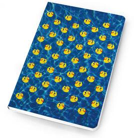 Track & Field Notebook Rubber Ducky
