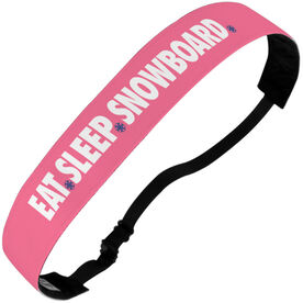 Snowboarding Julibands No-Slip Headbands - Eat Sleep Snowboard