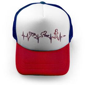 Triathlon Trucker Hat Heartbeat Female