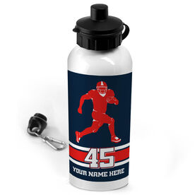 Football 20 oz. Stainless Steel Water Bottle Personalized Football Running Back