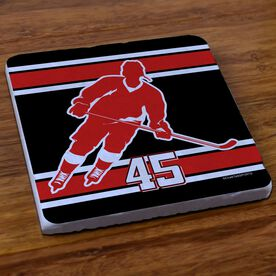 Hockey Stone Coaster Personalized Hockey Rink Turn