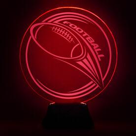 Football Acrylic LED Lamp Hail Mary