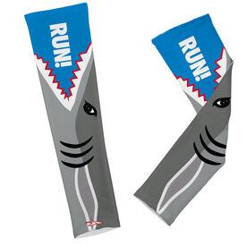 Printed Arm Sleeves Shark Attack