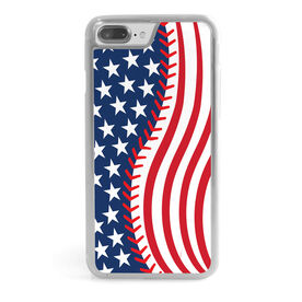 Baseball iPhone® Case - American Flag Ball