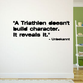 A Triathlon Reveals Character Removable TRIForeverGraphix Wall Decal
