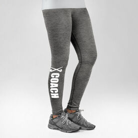 Field Hockey Performance Tights Coach with Sticks