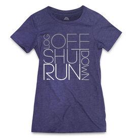 Women's Everyday Runners Tee Log Off Shut Down (Stacked)