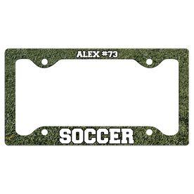 Custom Soccer Player License Plate Holders