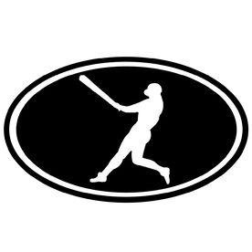 Baseball Boy Silhouette Vinyl Decal