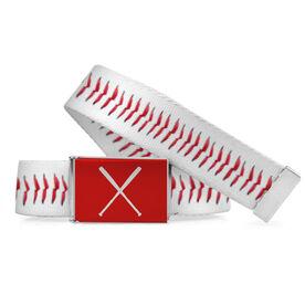 Baseball Lifestyle Belt Photographed Stitches