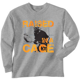 Lacrosse Long Sleeve T-Shirt - Raised In a Cage