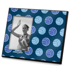 Volleyball Photo Frame Multi Color Volleyball Pattern