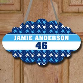 Hockey Cloud Room Sign Personalized Hockey Player Pattern