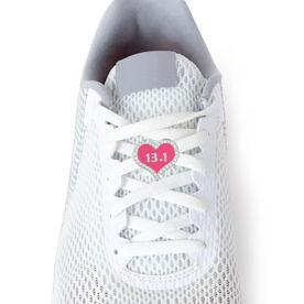 13.1 Half Marathon Pink Heart - LaceBLING Shoe Lace Charm