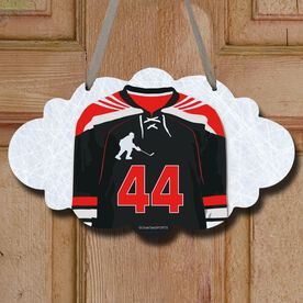 Hockey Cloud Room Sign Personalized Hockey Jersey