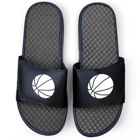 Basketball Navy Slide Sandals - Basketball