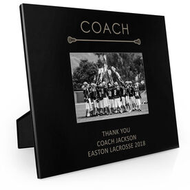 Guys Lacrosse Engraved Picture Frame - Coach