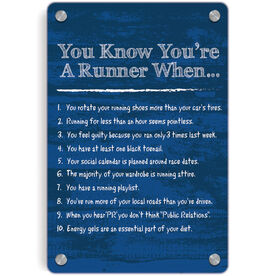 Running Metal Wall Art Panel - You Know You're A Runner When