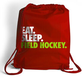 Field Hockey Sport Pack Cinch Sack Eat. Sleep. Field Hockey.