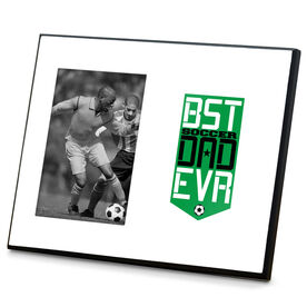Soccer Photo Frame - Best Dad Ever Shield