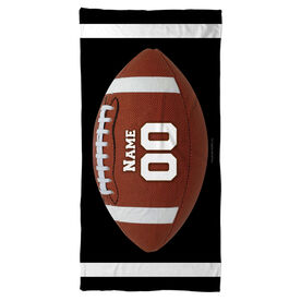 Football Beach Towel Personalized Big Number