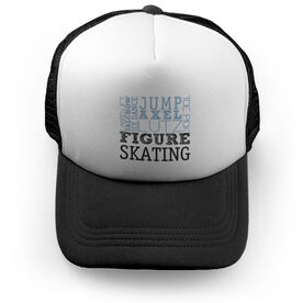Figure Skating Trucker Hat Typographic