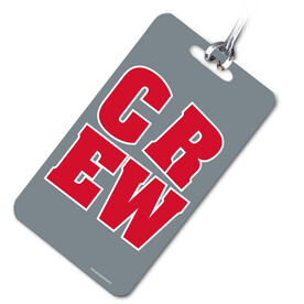 Crew Bag/Luggage Tag CREW Block (Red/Gray)