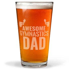 20 oz. Beer Pint Glass Awesome Gymnastics Dad