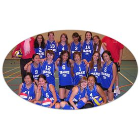Volleyball Oval Car Magnet Your Photo