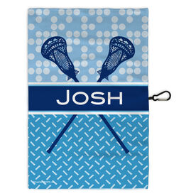 Lacrosse Bag Towels Personalized-2-Tier Patterns with Crossed Sticks