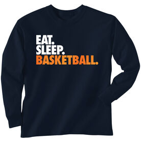 Basketball T-Shirt Long Sleeve Eat. Sleep. Basketball.