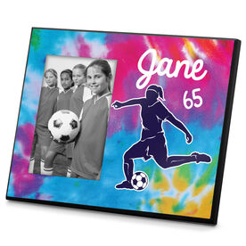 Soccer Photo Frame Personalized Girl Soccer Tie Dye