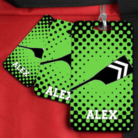Crew Bag/Luggage Tag Personalized Oar with Dots