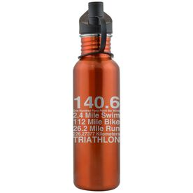 140.6 Math Miles 24 oz Stainless Steel Water Bottle