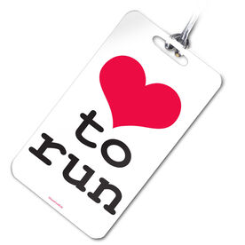 Running Bag/Luggage Tag Heart To Run