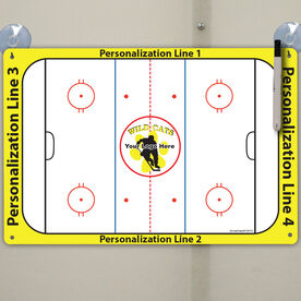 """Hockey Custom Dry Erase Coach Board Full Rink - 18"""" X 12"""""""