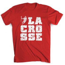 Guys Lacrosse Short Sleeve T-Shirt - Lacrosse Stacked