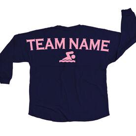 Swimming Statement Jersey Shirt Swimming Team Name