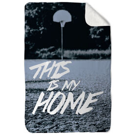 Basketball Sherpa Fleece Blanket This Is My Home