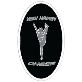 Cheer Oval Car Magnet Personalized Side Foot Grab