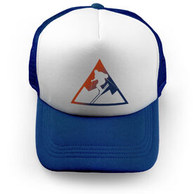 Skiing Trucker Hat Triangle