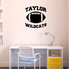 Personalized Football Team Removable ChalkTalkGraphix Wall Decal