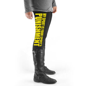 Cross Country High Print Leggings My Sport Is Your Sports Punishment