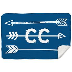 Cross Country Sherpa Fleece Blanket Arrows