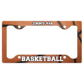 Custom Basketball Player License Plate Holders