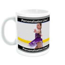 Figure Skating Ceramic Mug Custom Photo with Color