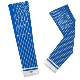 Track Printed Arm Sleeves Track Lines