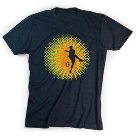 Soccer Tshirt Short Sleeve Sunburst Soccer