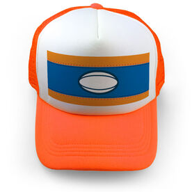 Rugby Trucker Hat - Ball Stripes