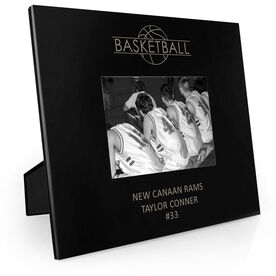 Basketball Engraved Picture Frame - Word